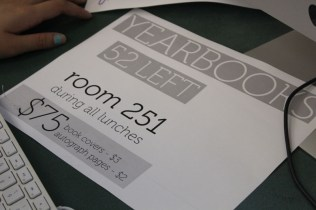 Yearbook sales flew quick with only a few dozen left. Photo by Julia Nguyen.