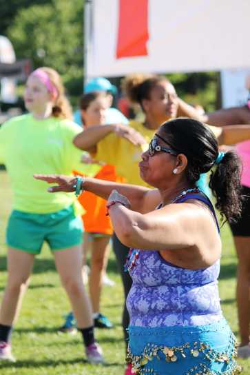 Dancing away in the sun, Zumba brought a lot of energy to the crowd