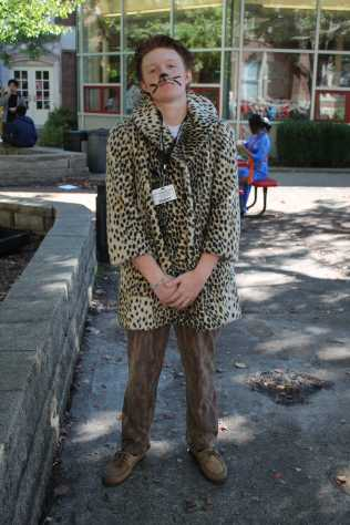 """""""I told my mom to get a jacket, and she got a jacket that looks like a cheetah, and now I look like Macklemore, and all the freshmen call me Macklemore, so ow I'm Macklemore."""" Christopher Roussell (10, J&C)"""