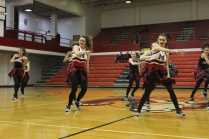 Dazzlers during the girls basketball half time show. Photo by Cicada Hoyt