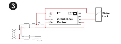 small resolution of the image below shows how to change this existng cabling to power the strike lock in parallel
