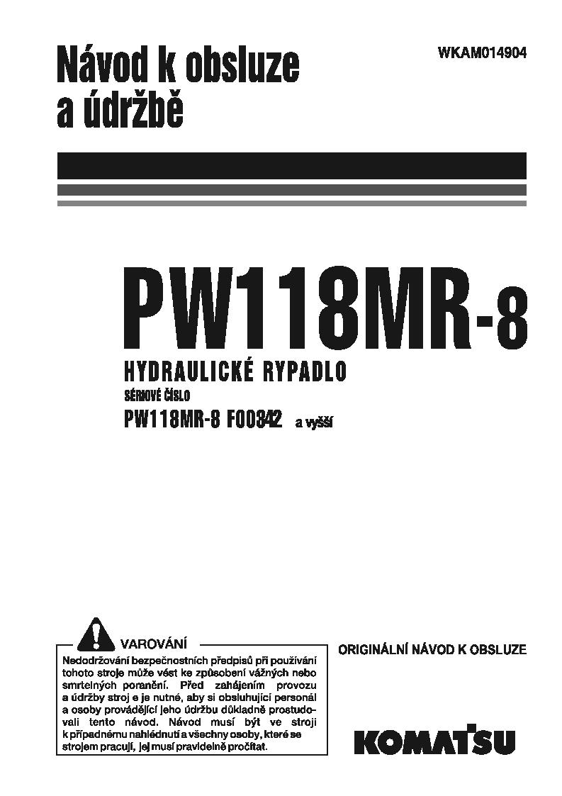 PW118MR-8(ITA) S/N F00342-UP Operation manual (Czech