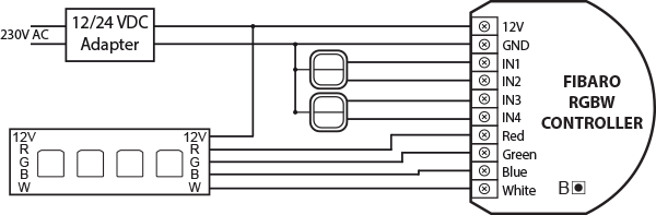 free wiring diagrams orion bms diagram rgbw controller - z-wave   fibaro manuals