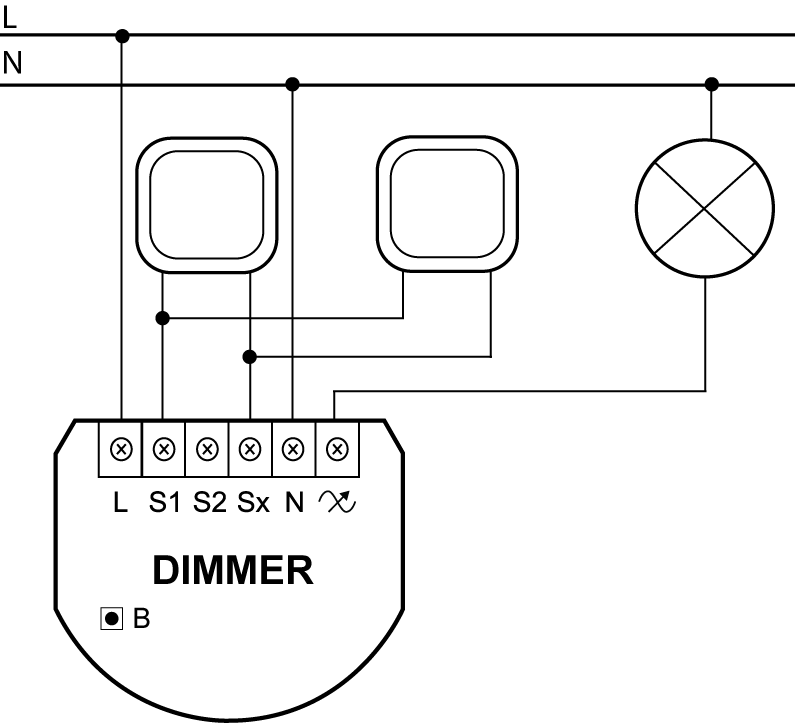 3 way wiring diagram with dimmer switch 1965 mustang harness 2 | fibaro manuals