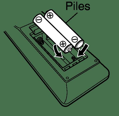 Insertion des piles NR1200