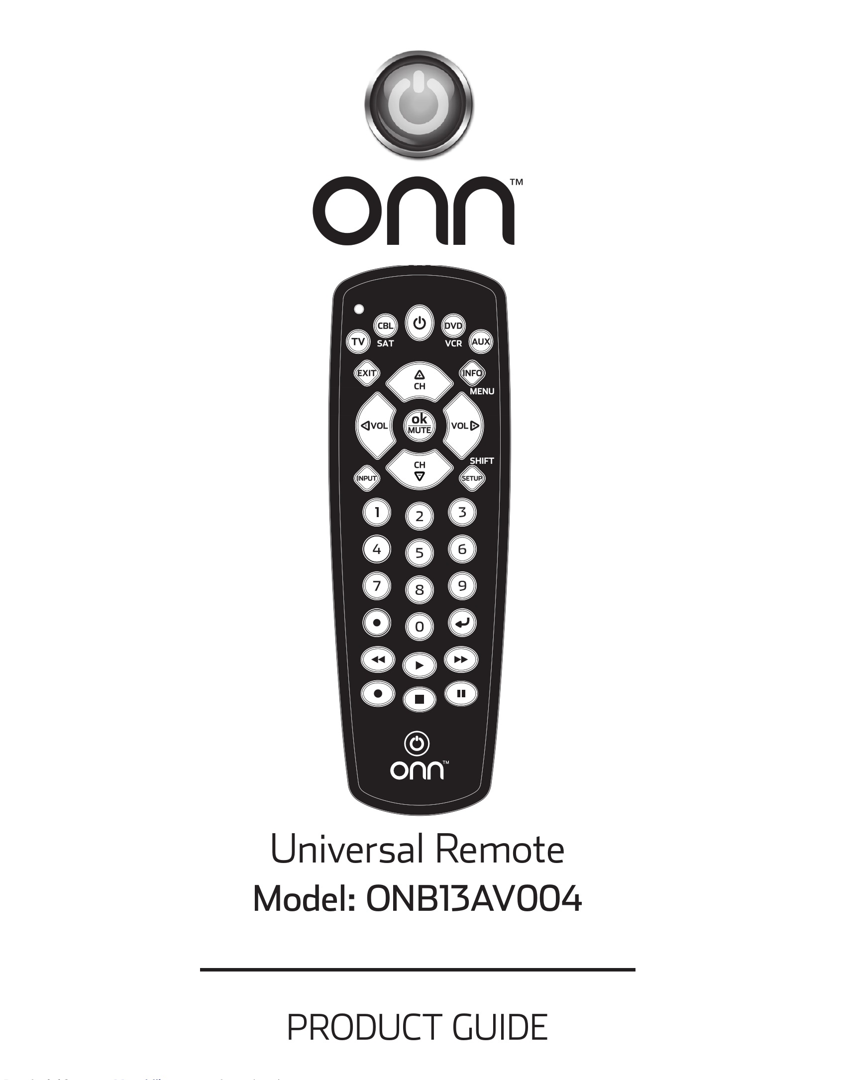 Onn 6-Device Universal Remote User Guide - Manuals+