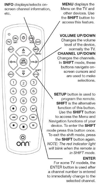 How To Program Onn Universal Remote : program, universal, remote, Universal, Remote, Manual, Codes, [ONB13AV004], Manuals+