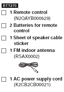 Panasonic SC-BTT / SA-BTT Series Manual [BTT770,BTT730