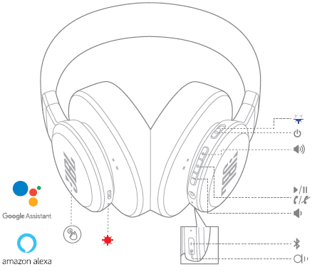 User Manual JBL Live 400 BT / Live 500 BT Headphones