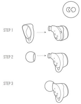 JBL LIVE 300TWS Manual ATTACH ear tips and ENHANCERS