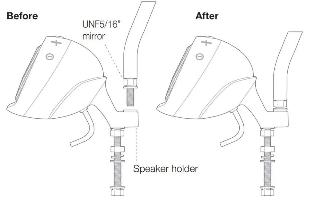 "JBL Cruise Manual Screw UNF5/16"" Left mirror into speaker"