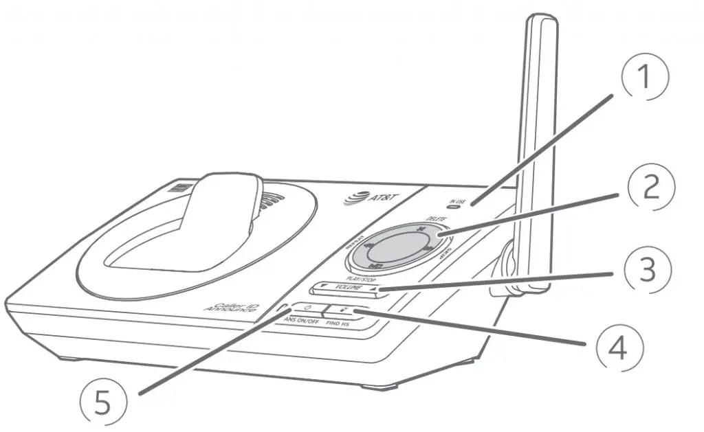 AT&T Dect 6.0 Teléfono inalámbrico [CL82219, CL82229