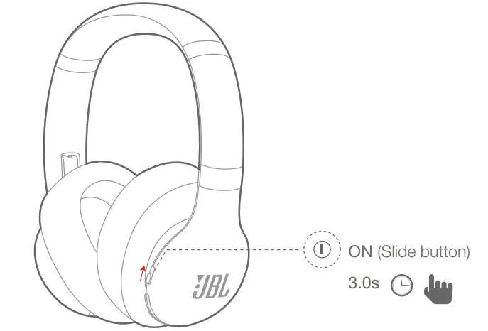 JBL EVEREST ELITE 750NC Manual Turn on the headphone