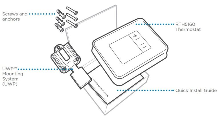 Honeywell RTH5160 Non-Programmable Thermostat Installation