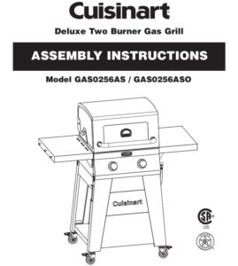 Cuisinart Deluxe Two Burner Gas Grill [GAS0256AS