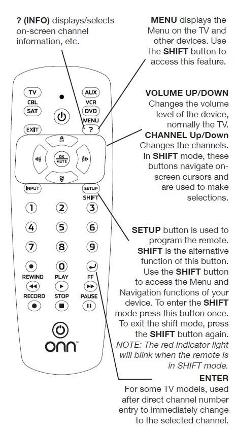 Onn Remote Setup : remote, setup, Universal, Remote, 39900, Guide, Manuals+
