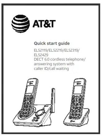 DECT 6.0 Cordless Telephone EL52119/EL52219/EL52319