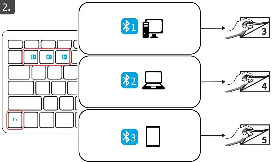 23746 Manuale utente tastiera wireless Bluetooth Nado