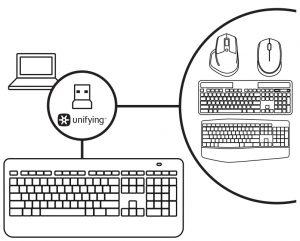 Logitech K800 Illuminated Wireless Keyboard User Manual