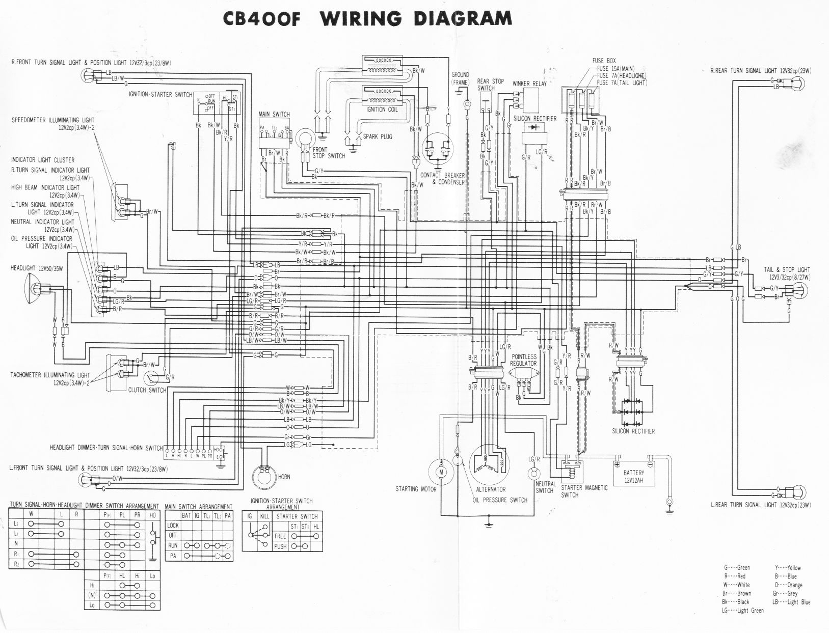 1977 honda cb550 wiring diagram