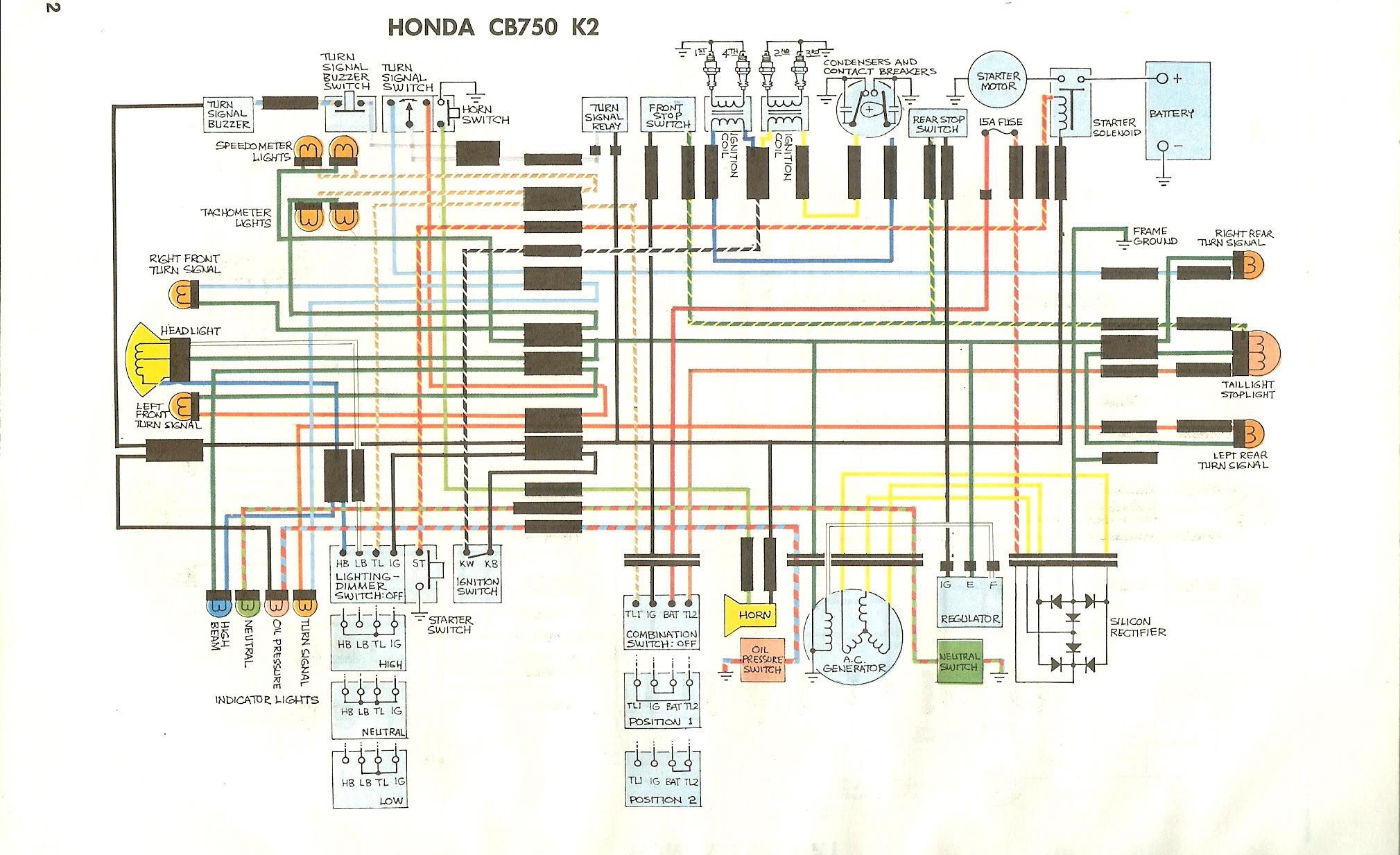 Wire Harness 1978 Honda Cb550 Cb750k