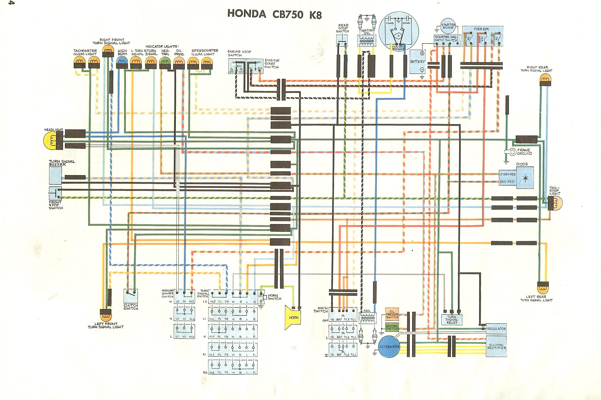 hight resolution of cb750k 1972 honda cb750 wiring diagram honda cb750 wiring diagram