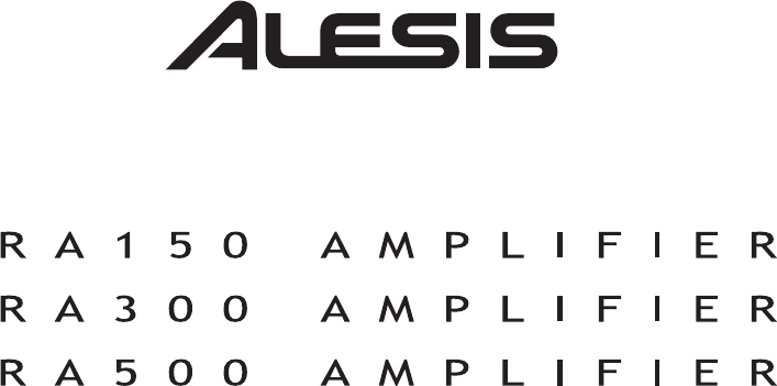 Alesis Car Amplifier RA500 manual