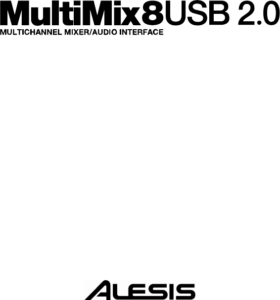 Alesis Computer Drive USB2.0 manual