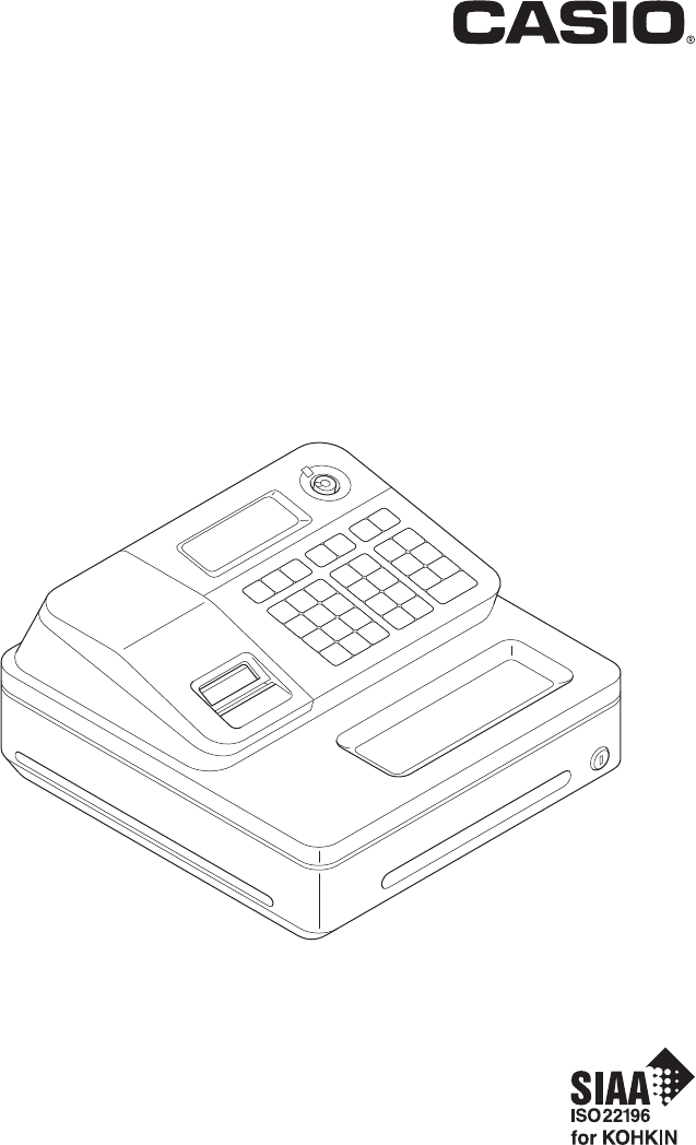 Casio Cash Register PCR-T273 manual