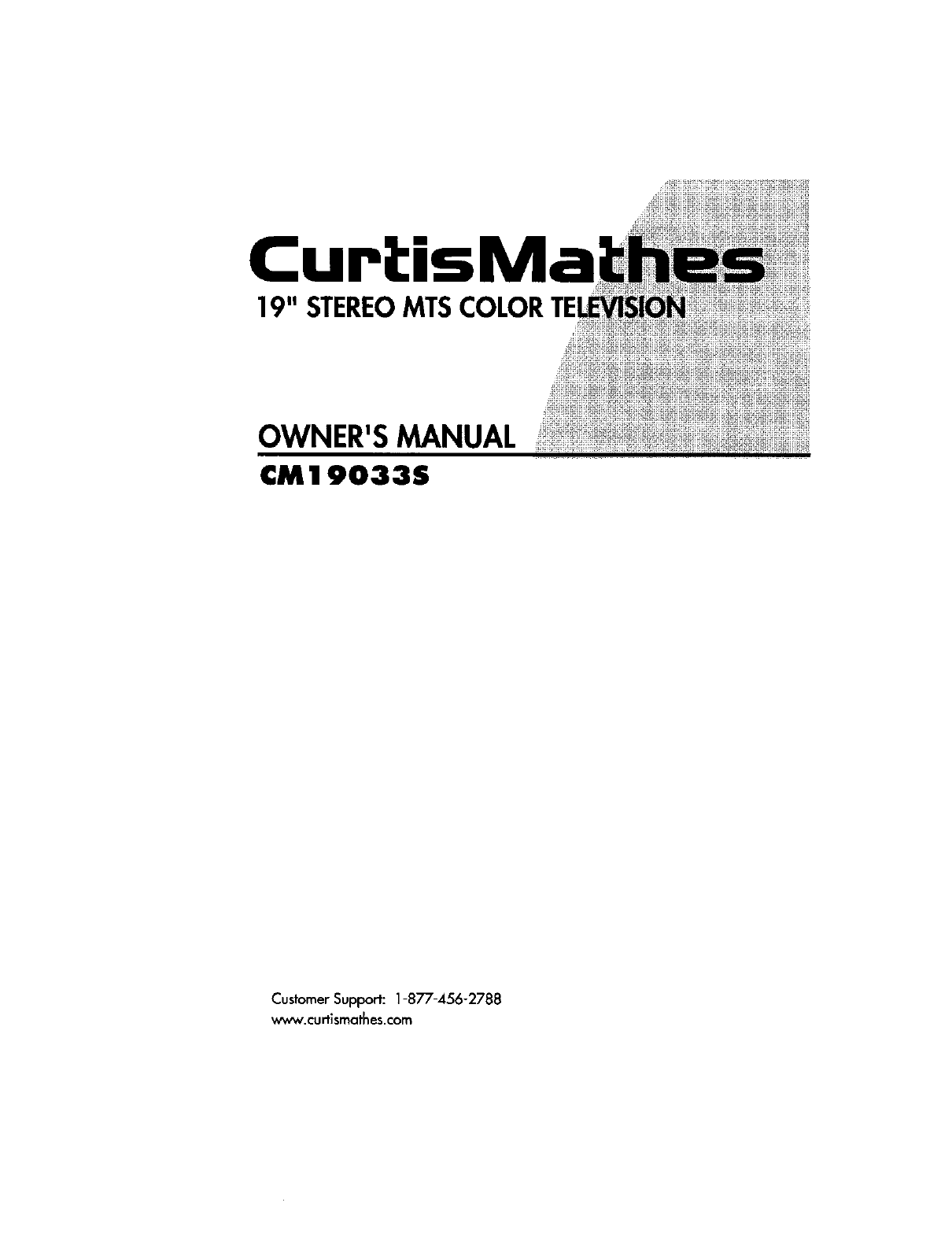 Download Curtis Mathes CRT Television CM 19033S manual and