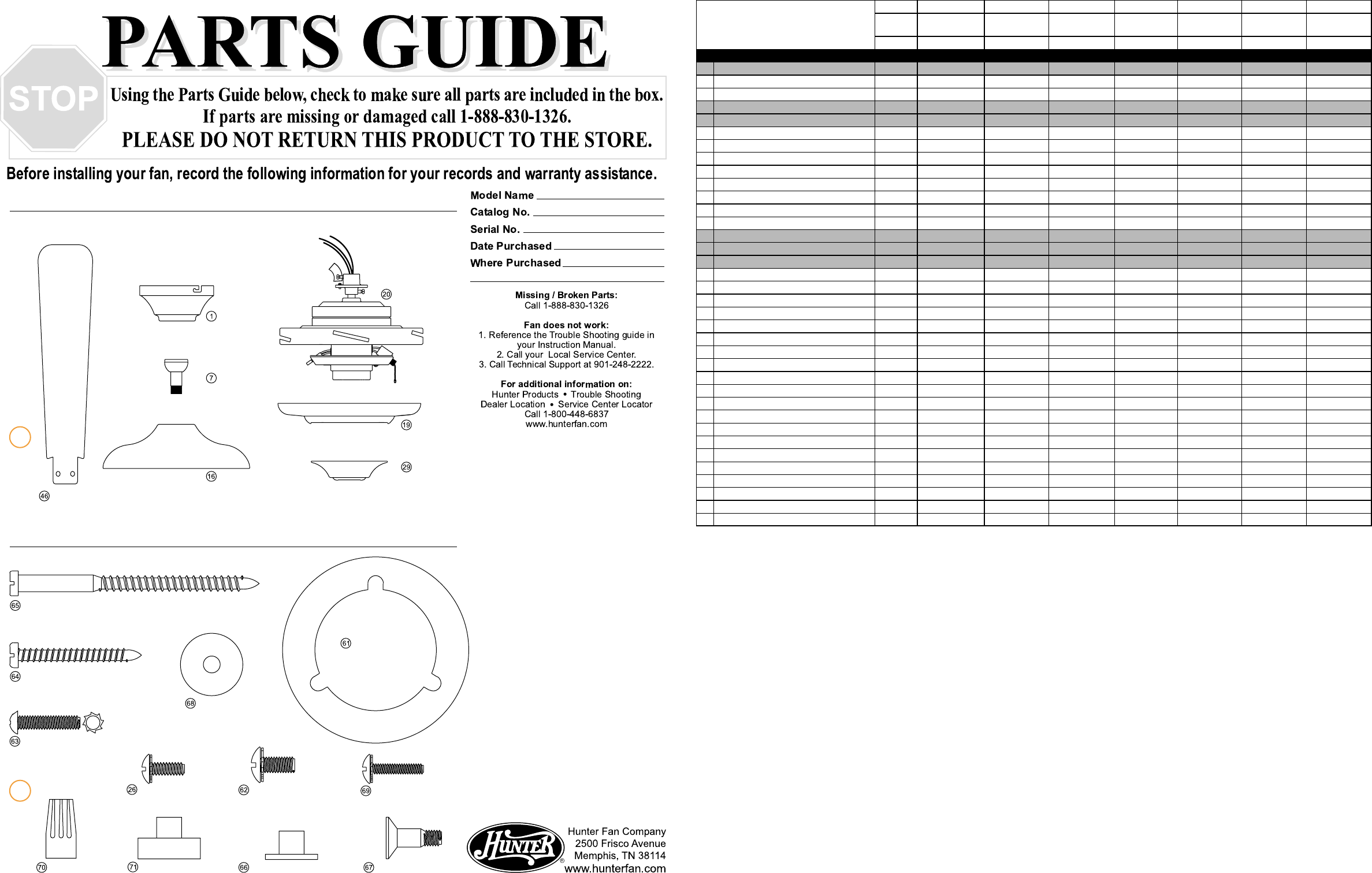 Hunter Ceiling Fan Assembly Instructions