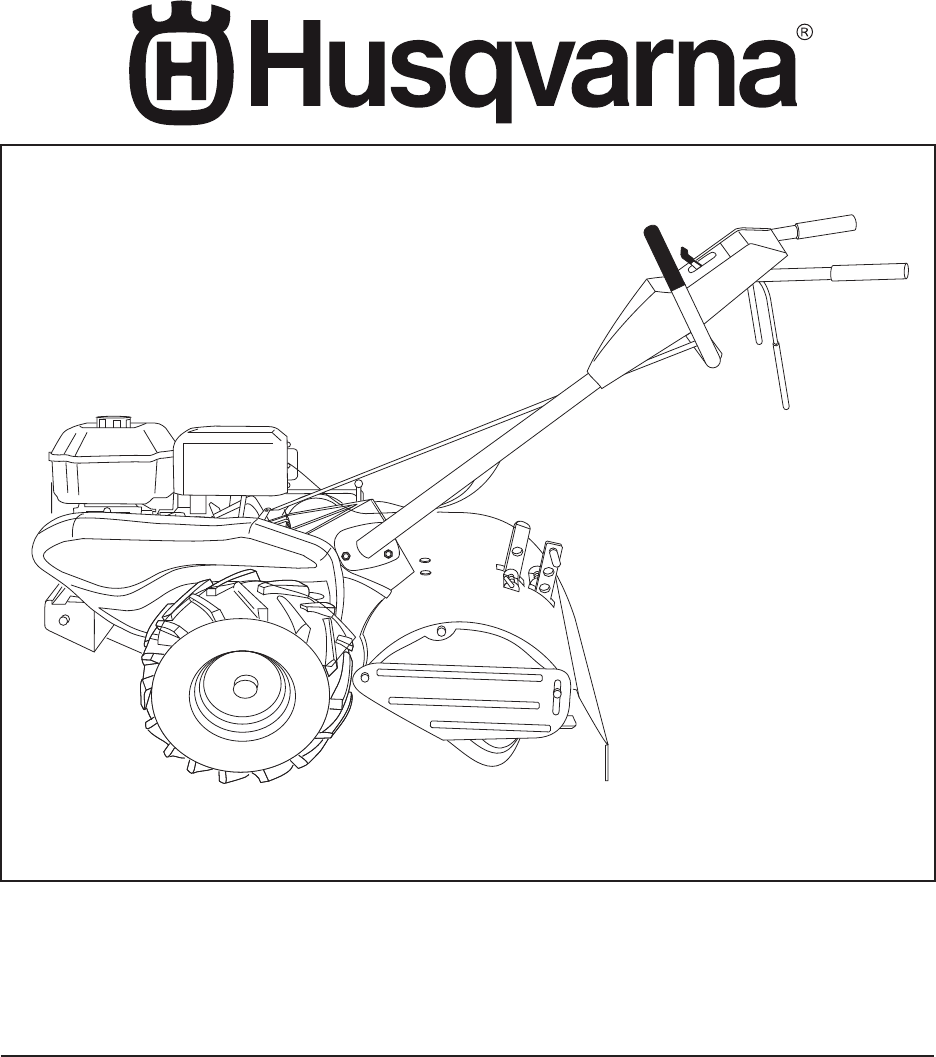 Download Husqvarna Tiller DRT900E manual and user guides
