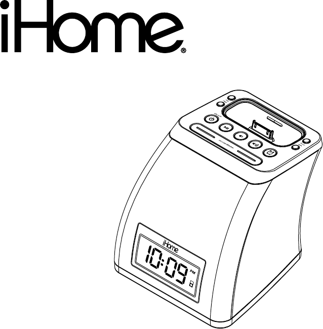 Download iHome Clock IP21 manual and user guides (page 1