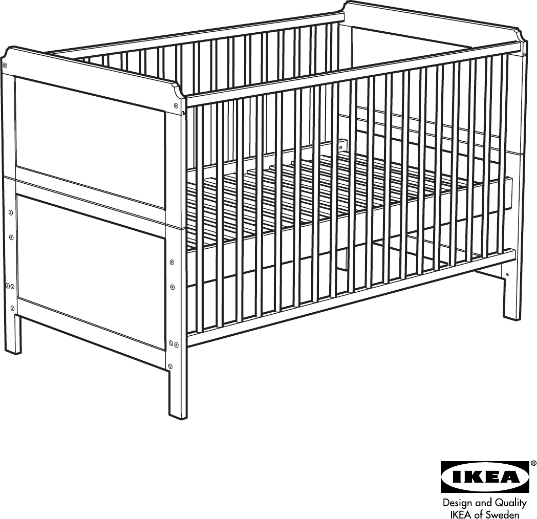 Download IKEA Crib AA-233525-2 manual and user guides