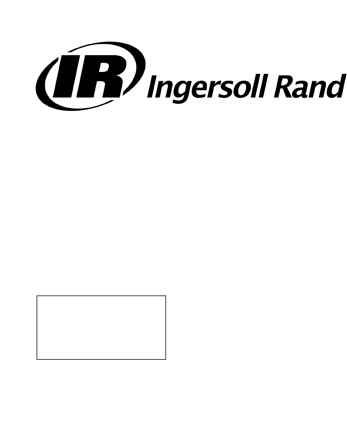 Ingersoll-Rand Air Compressor 100-200 HP/75-160 KW manual