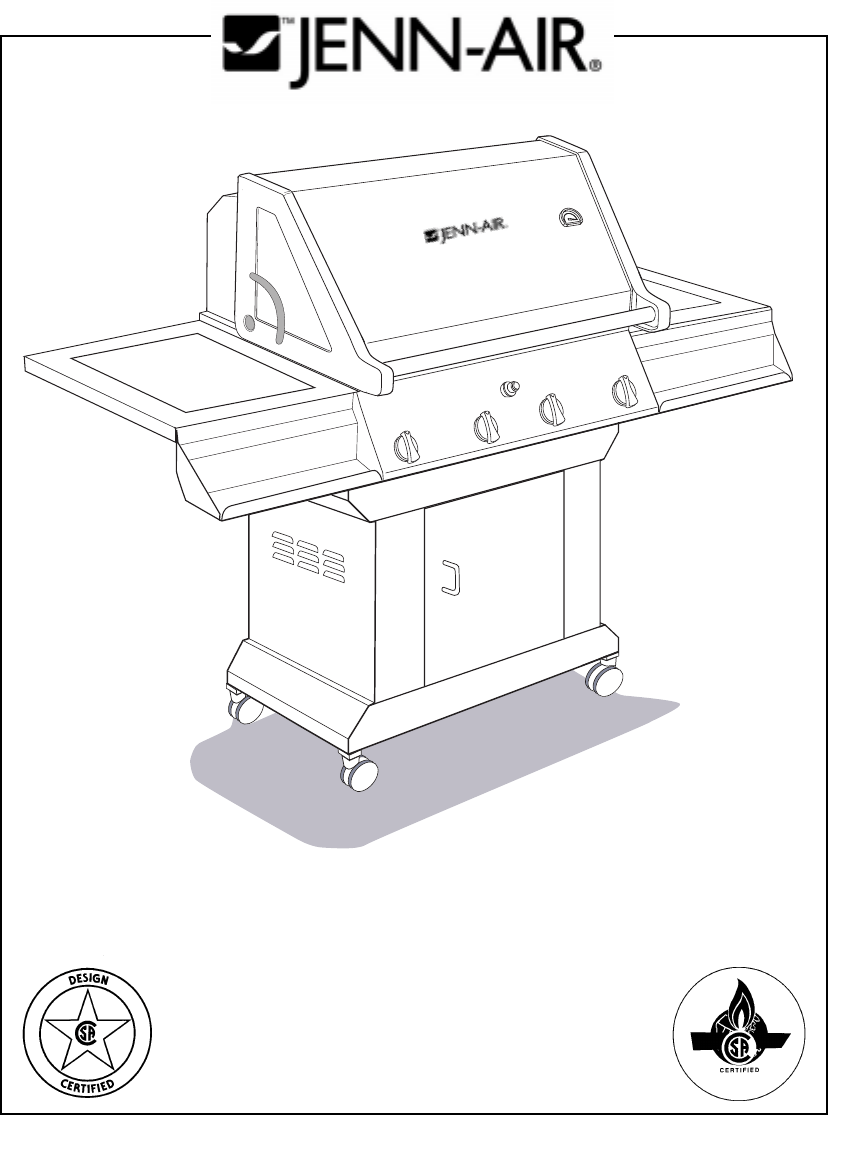 Download Jenn-Air Gas Grill JA460 manual and user guides