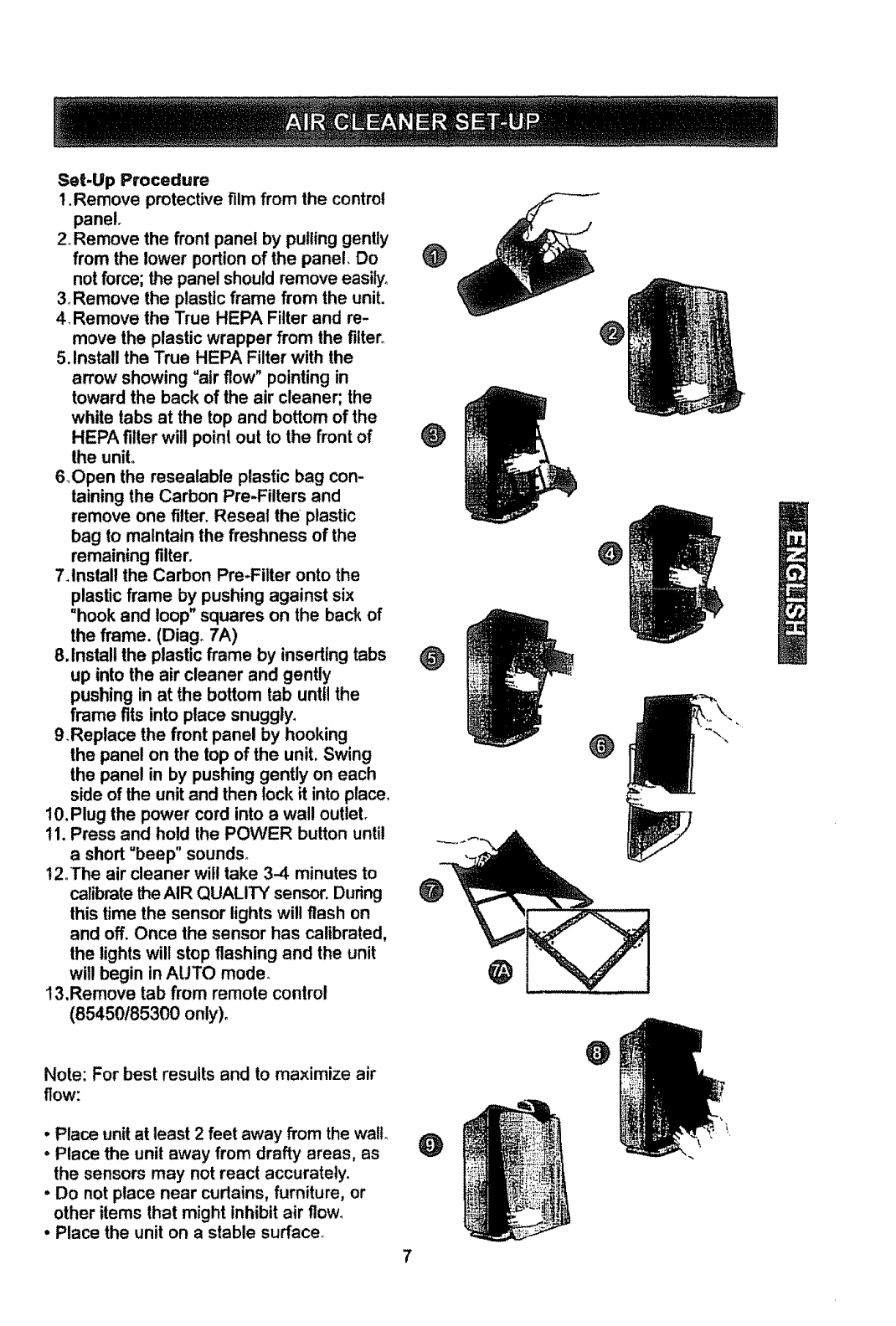 Download Kenmore Air Cleaner 85150 manual and user guides