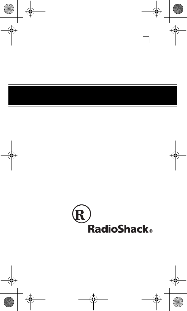 Radio Shack Clock 63-974 manual