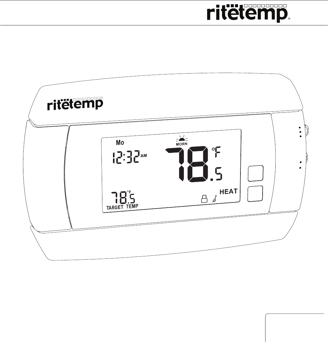ritetemp Thermostat 6030 manual