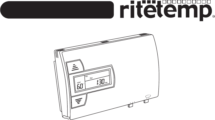 Download ritetemp Thermostat 8022 manual and user guides