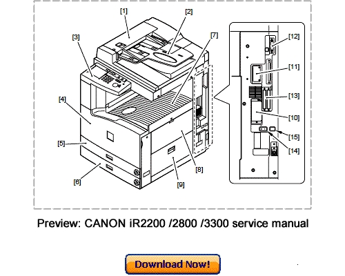 CANON IR2200 IR2800 IR3300 Service Repair Manual Download