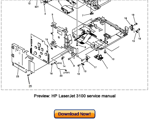 HP LaserJet 3100 Service Repair Manual Download Hp