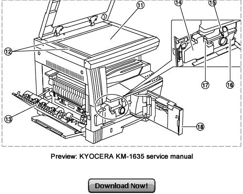 KYOCERA Service KM-2035 KM-1635 Repair Manual Download Km
