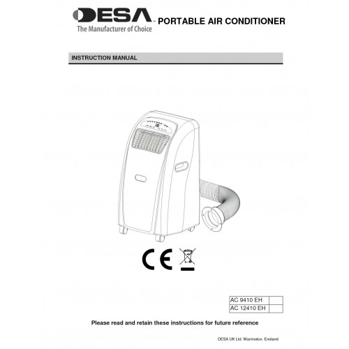 Desa AC 12410 EH Specifications and Manuals