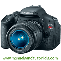 Canon EOS REBEL T3i Manual And User Guide PDF