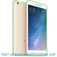 Xiaomi Mi Max | Mi Max 2 Manual And User Guide PDF