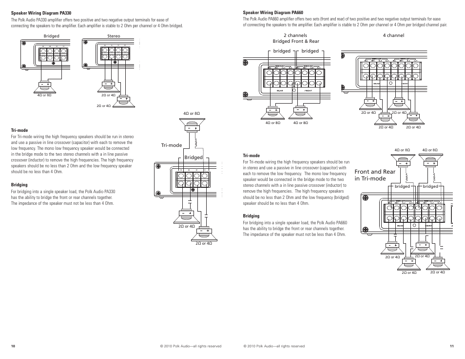 Polk Audio PA880 User Manual