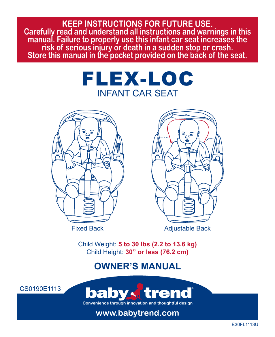 Babytrend Cs31983  Flexloc Infant Car Seat  All Star
