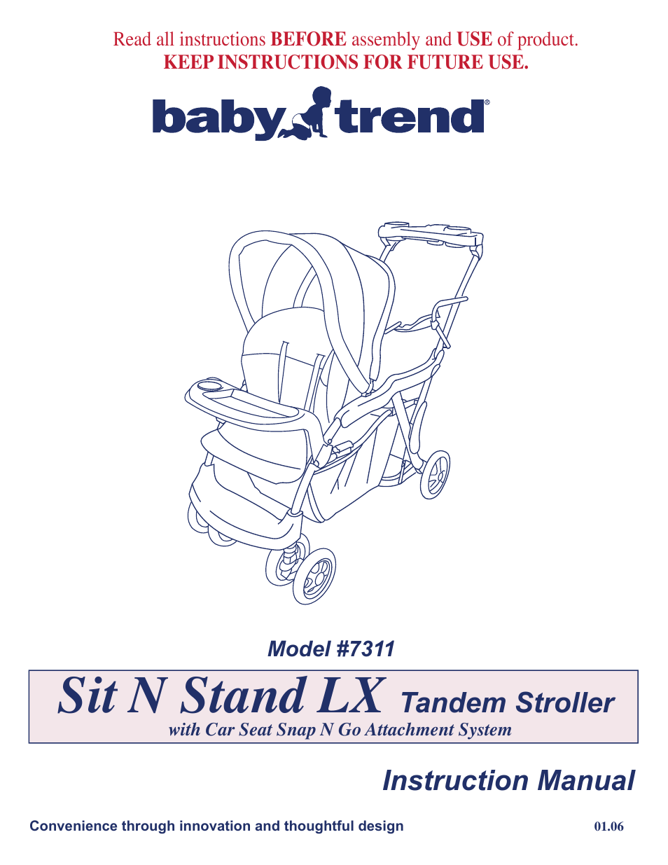 Baby Trend 7311 User Manual  19 Pages  Also For 7311lx
