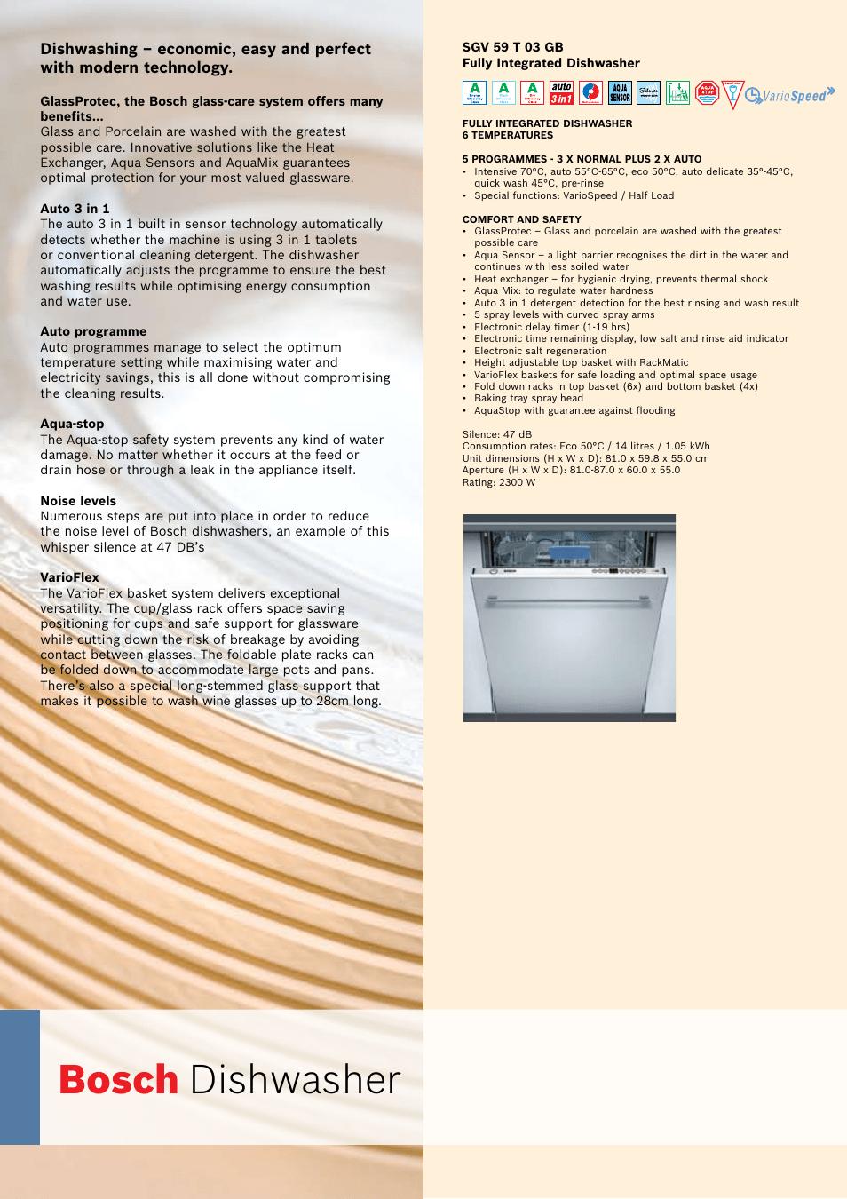 Unikalne Bosch Auto 3in1 Silence | Bedienungsanleitung Bosch Sgi4665 YE98
